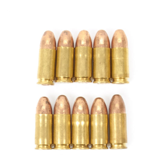 Original WWII Style 9mm Parabellum Dummy Cartridges- Set of 10