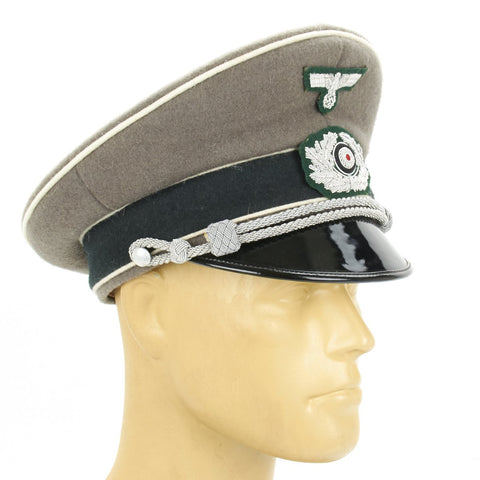 German WWII Wehrmacht Heer Army Officer Visor Cap New Made Items