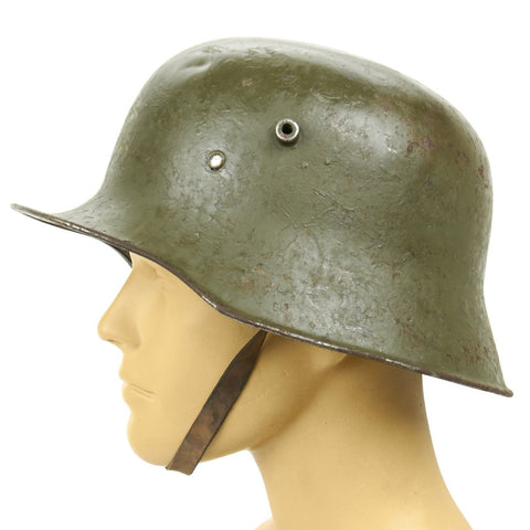 Original Imperial German WWI M18 Stahlhelm Helmet - Shell Size 68