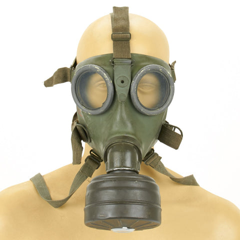 Original German WWII M-38 Gas Mask & Filter - Excellent Condition