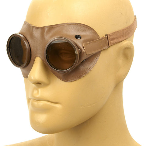 Original German WWII Ultrasin Mountain and Motorized Troop Goggles by Nitsche and Gunther Original Items