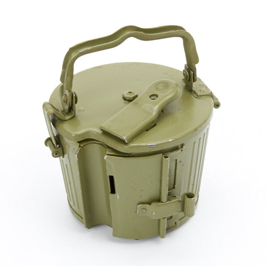 German MG 34/42 Basket Belt Carrier Drum in Postwar Apple Green Original Items