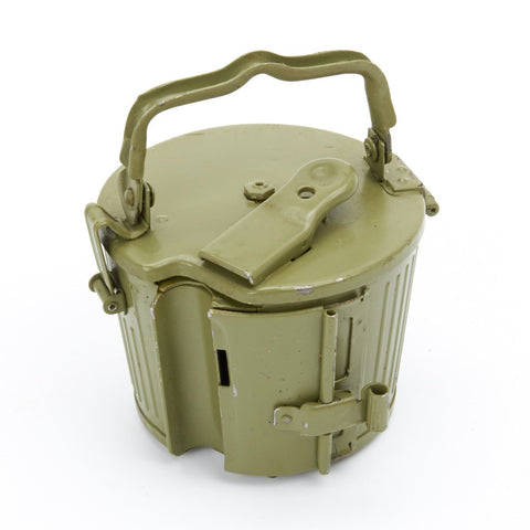 German MG 34/42 Basket Belt Carrier Drum in Postwar Apple Green