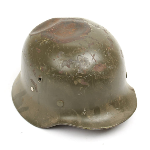 Original German M40 WWII Type Steel Helmet- Finnish M40/55 Contract - Scratch & Dent