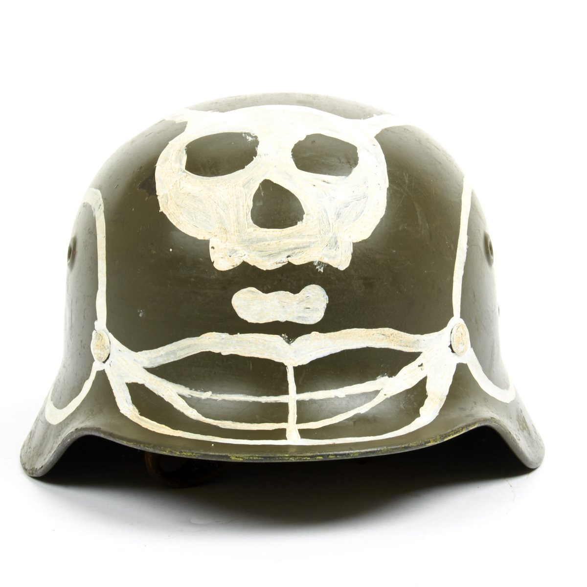 Original finnish m40 55 helmet with winter war skull