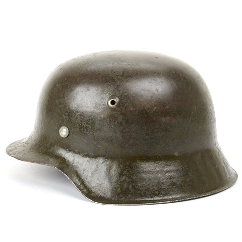 Original German WWII M42 Stahlhelm Steel Helmet- Shell Size 66