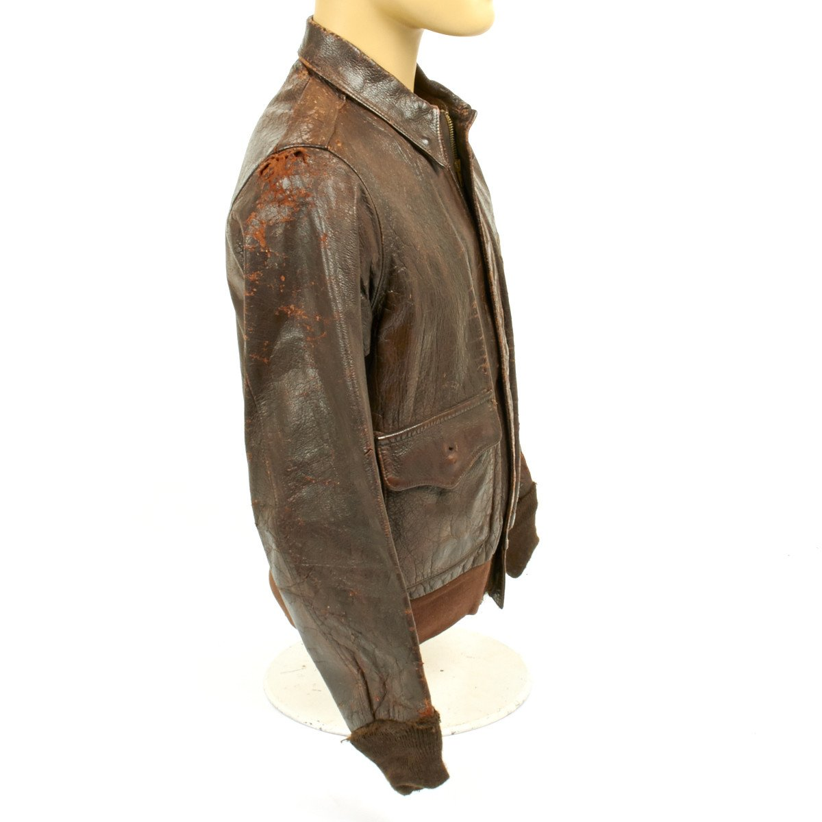 Original us wwii china burma india theater a2 leather flight original us wwii china burma india theater a2 leather flight jacket size 40 gumiabroncs Image collections