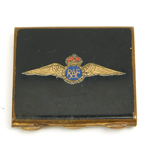 Original British WWII Royal Air Force Sweetheart Enamel Compact with Mirror