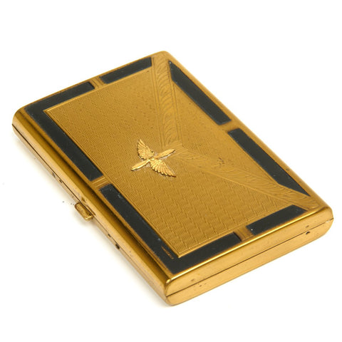 Original U.S. WWII Army Air Force Art Deco Sweetheart Compact