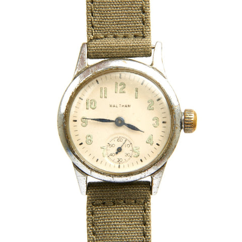 Original U.S. WWII Army 17-Jewel Wrist Watch by Waltham - Fully Functional