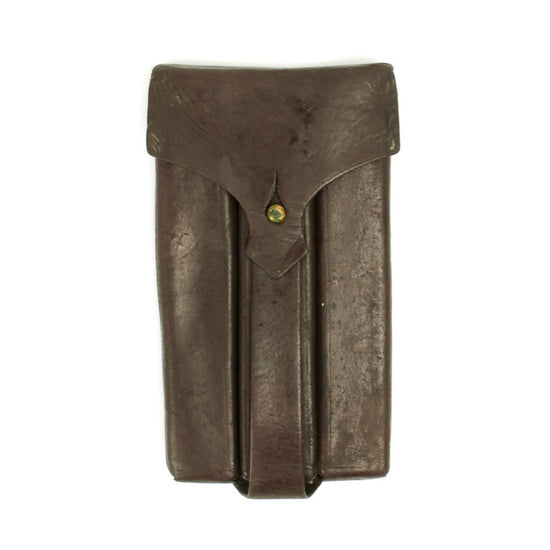 Original German WWII Steyr MP 34 32rd 9mm Paratrooper Leather Magazine Pouch Original Items