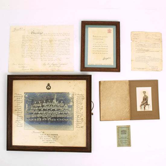 Original British WWI WWII Officer Grouping - Lieutenant Albert Harris Original Items