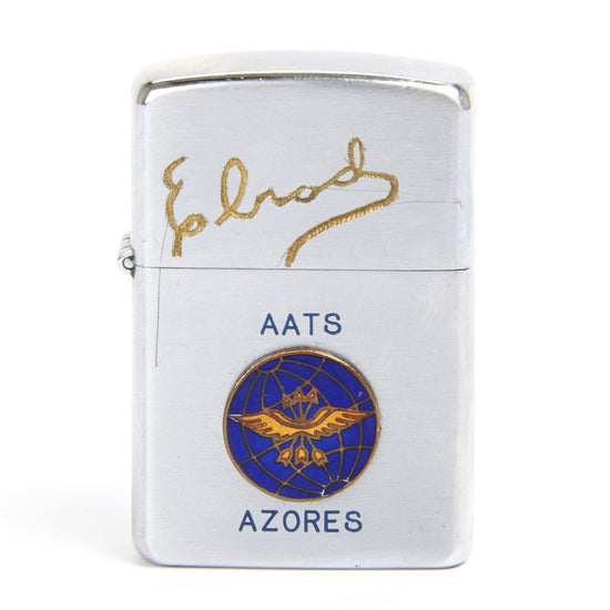 Original 1969 U.S. Vietnam War Era Zippo Style Lighter Engraved ELROD Azores Air Transport Station Japan- By Penguin