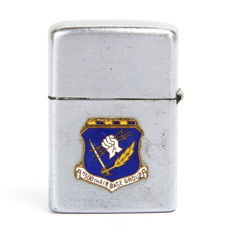 Original 1954 U.S. Cold War Era Zippo Style Lighter 7500th Air Base Group Denham England