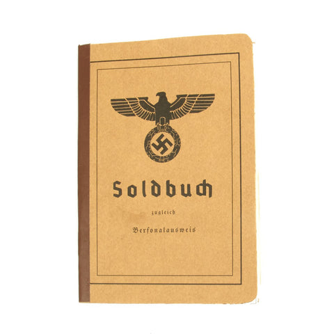 German WWII Army Soldier Identity & Payment Book: Soldbuch