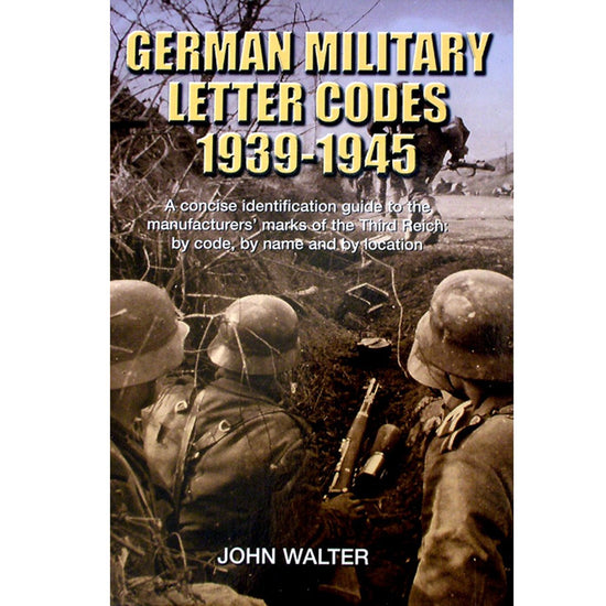 Hardcover Book- German Military Letter Codes 1939-1945