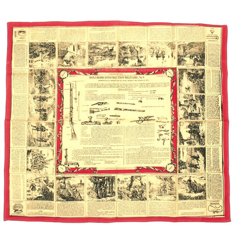 French Pre-WWI Soldier Scarf- French 1886 Lebel Rifle Schematic New Made Items