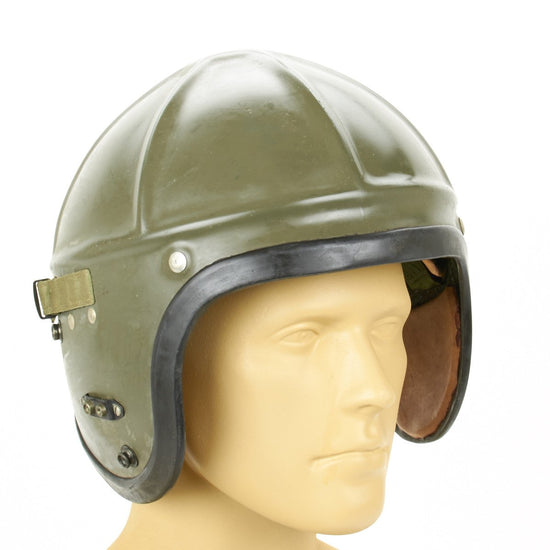 U.S. WWII Navy H-4 type Flight Helmet French 403-M3 Bone Dome