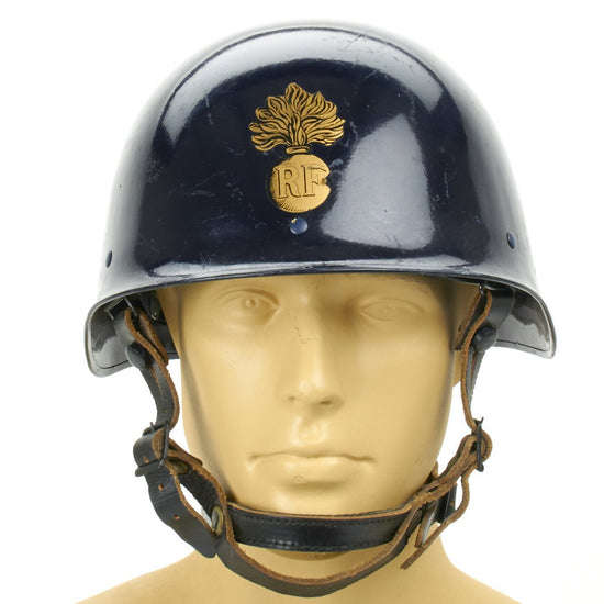 Original French Model 1978 F1 Blue Steel Parade Helmet Original Items