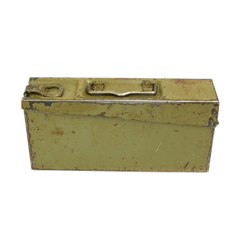 Original German MG 34/42 Ammunition Can in Postwar Green- GRADE 2