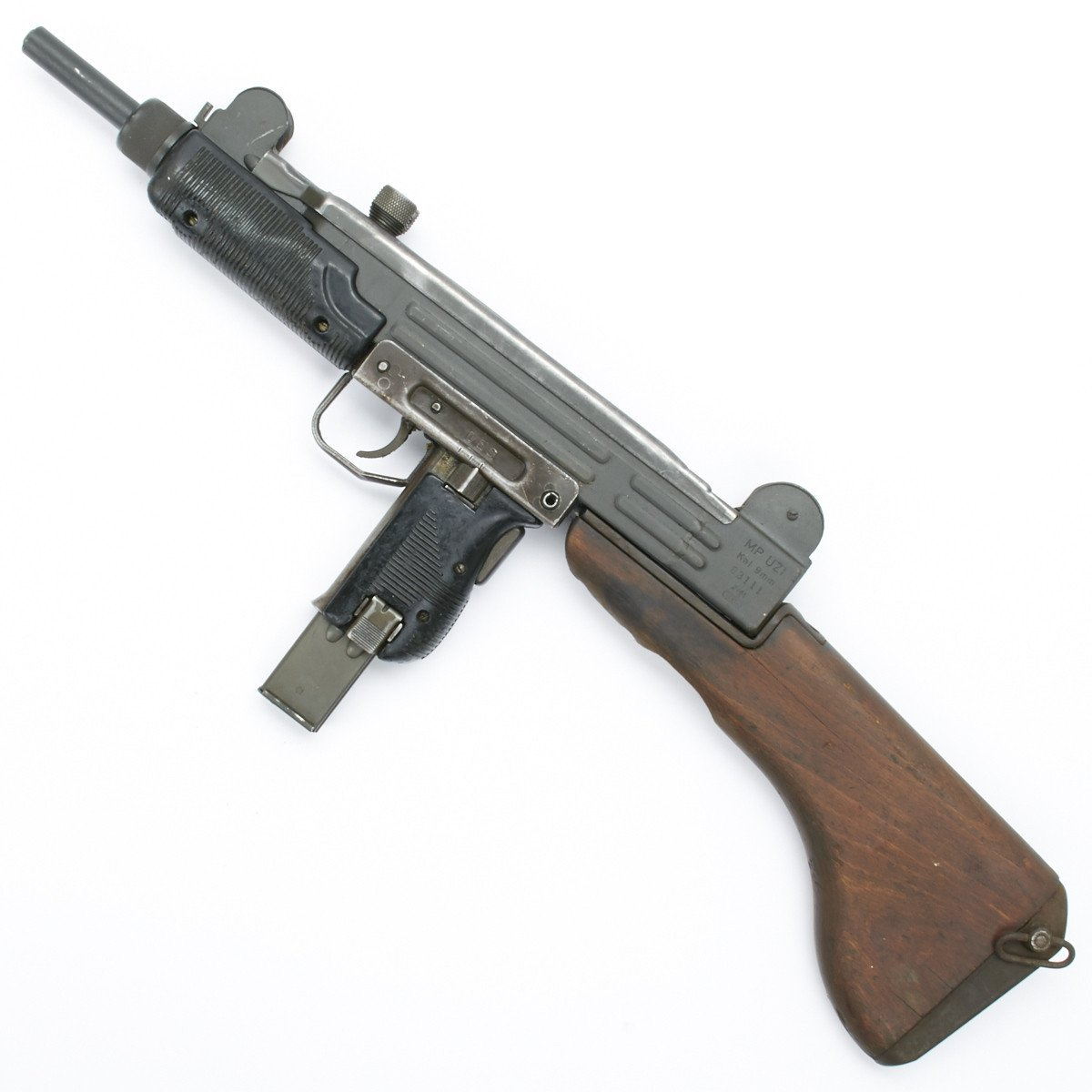 Original Israeli UZI Display Submachine Gun with Wood Stock