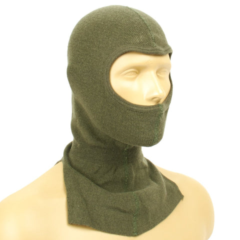 Original NATO Military Surplus Wool and Cotton Blend Balaclava- OD Green