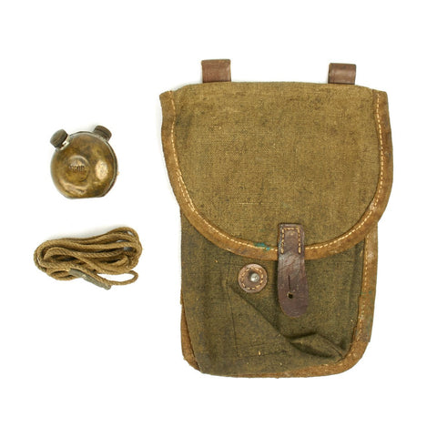 Original Russian PPSh-41 Triple Magazine Pouch with Oiler with Pull Through