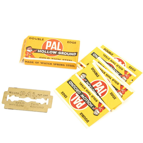 Original U.S. WWII Shaving Safety Razor Blades by PAL- Pack of 10