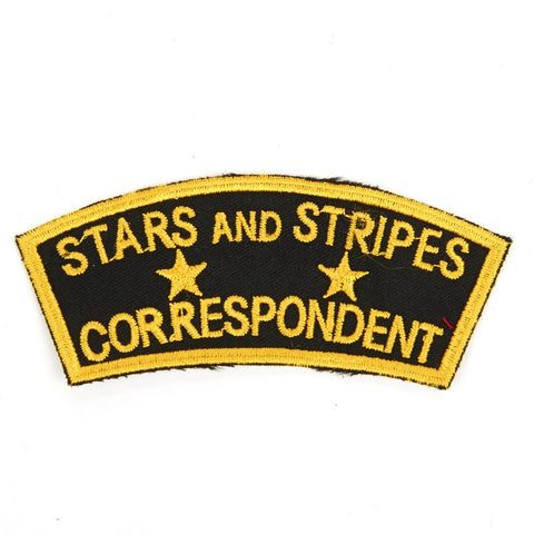 U.S. WWII Stars and Stripes Correspondent Shoulder Patch