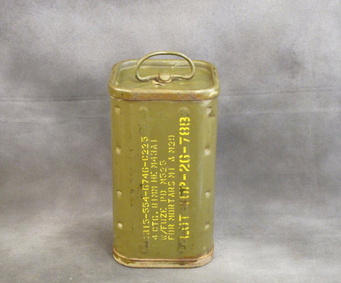 U.S. WWII 81mm M1 Mortar Can for HE M43A1- Dated 12/44