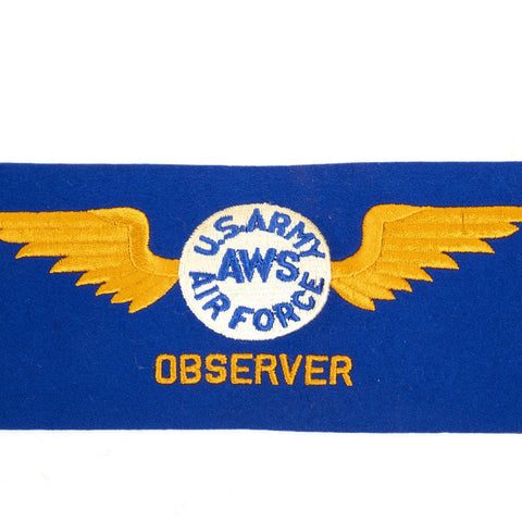 Original U.S. WWII Army Air Force Observer Armband