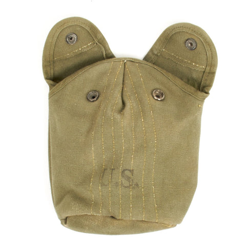Original U.S. Vietnam War M1956 One Quart Canvas Canteen Cover with Alice Clips Original Items