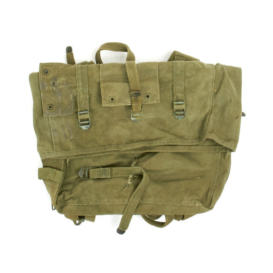 Original U.S. WWII M-1941 USMC 2nd Pattern Haversack Upper Bag - GRADE 2