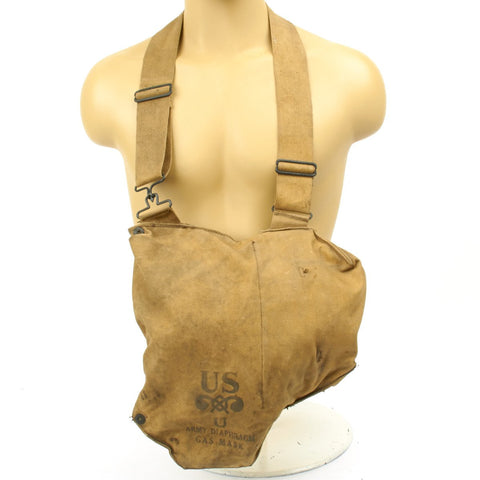 Original U.S. WWII M1VA1 Gas Mask Bag Original Items