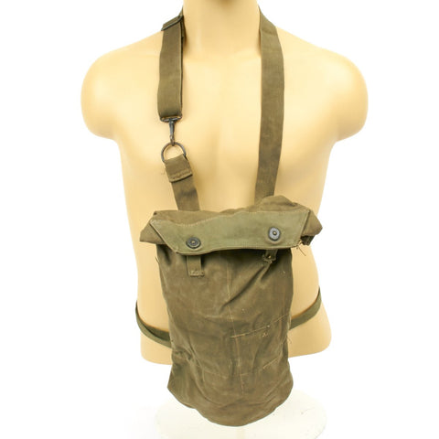 Original U.S. WWII M8 Snout Gas Mask Bag - M10 Carrier