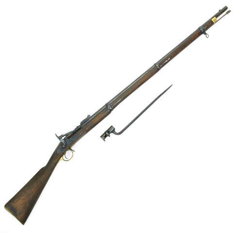 Original British P-1864 Snider type Breech Loading Rifle with Bayonet- Cleaned and Complete Condition