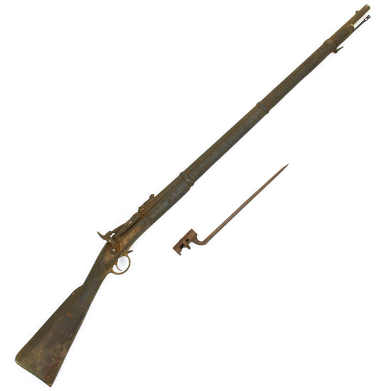 Original British P-1864 Snider type Breech Loading Infantry Rifle with Bayonet- Untouched Condition Original Items