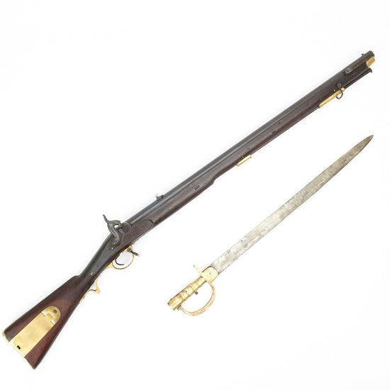 Original Brunswick P-1837 Percussion Two Groove Infantry Rifle with Bayonet- Cleaned & Complete Condition