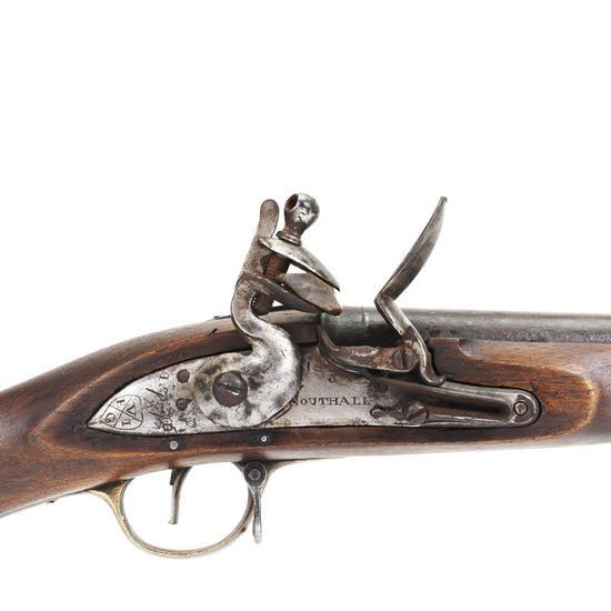 Original British EIC P-1771 Brown Bess Flintlock Musket- 1776 Dated & Marked Lock Original Items