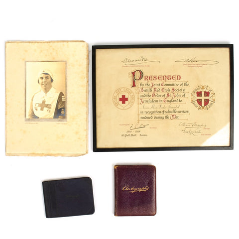 Original British WWI Red Cross Nurse Grouping of Freda Giradot