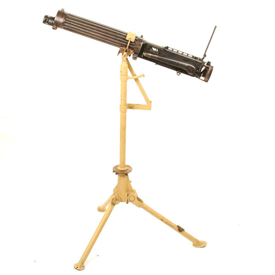 Original British WWI Five Arch Series Vickers Display Gun- Marked ABBASIA- Dated 1917 with Anti-Aircraft Configurable Tripod