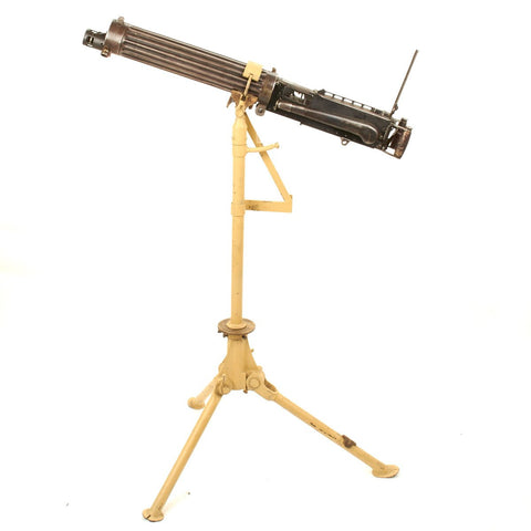 Original British WWI Five Arch Series Vickers Display Gun- Marked ABBASIA- Dated 1917 with Anti-Aircraft Configurable Tripod Original Items