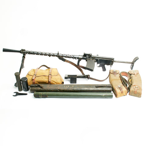 Original German WWII MG 13 Display Gun with Accessories