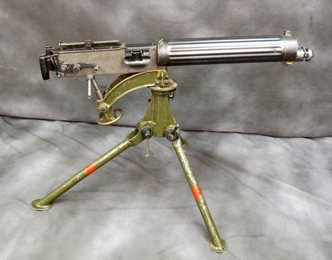 British WW1 Vickers Fluted Display Machinegun with Tripod