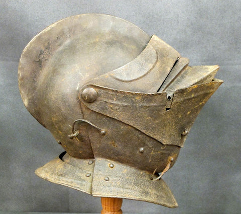 English 17th Century Knight's Funeral Helmet