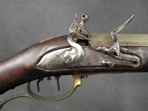 German Military 18th Century Flintlock Jeager Rifle with Set Trigger
