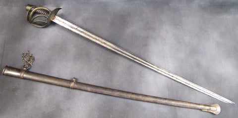 French AN XIII Cuirassier Sword with Rare Hatchet Point: Dated 1810 Original Items