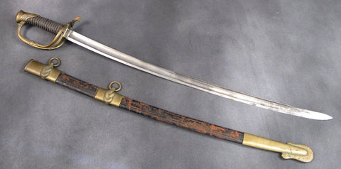 U.S. Civil War Naval Officer Sword with Scabbard