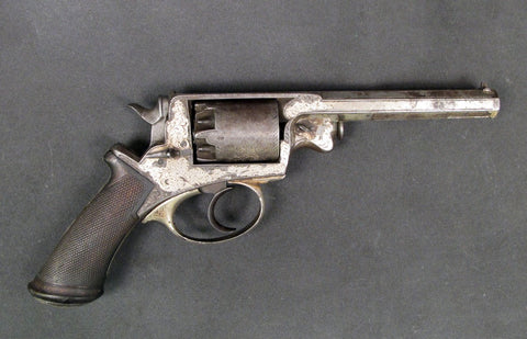 British M-1858 Adams Engraved Revolver: U.S. Civil War Original Items