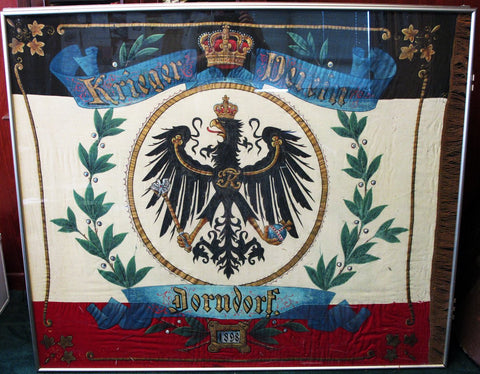 Imperial German Army Pre-WWII Flag Dated 1898 Original Items